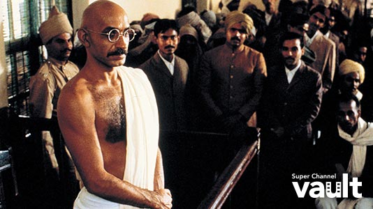 Gandhi Premieres May 04 1:35PM | Only on Super Channel