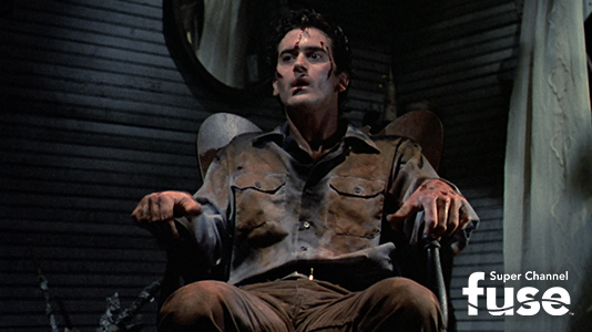Evil Dead II Premieres Oct 02 3:55AM | Only on Super Channel