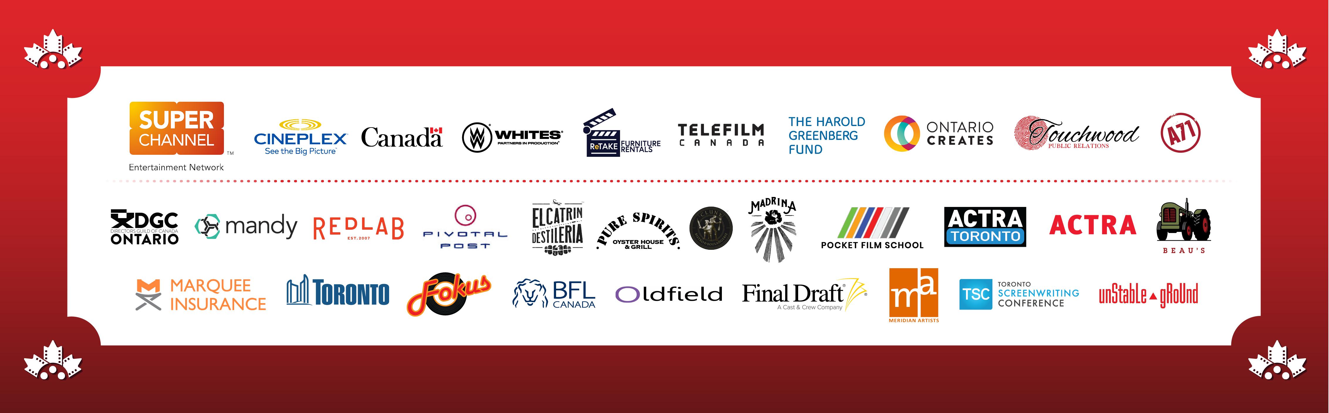 Canadian Film Festival Sponsors